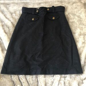 J. Crew skirt black size 4